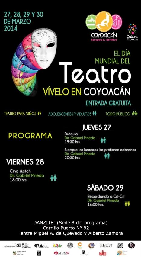 Día mundial del teatro en Coyoacán